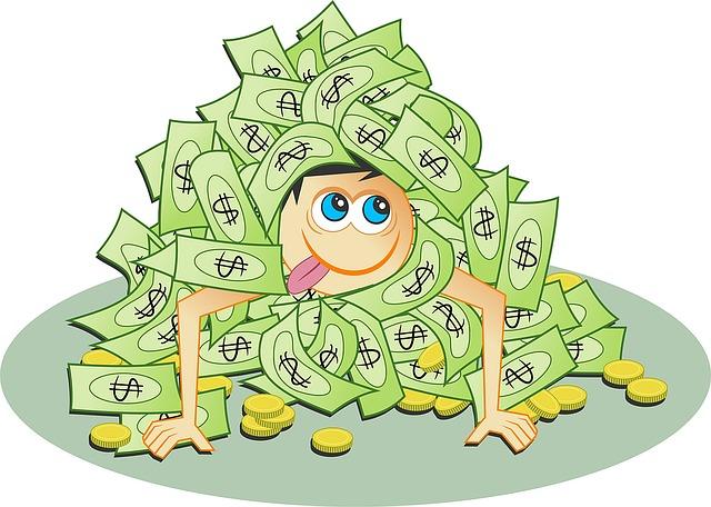mužík v penězích