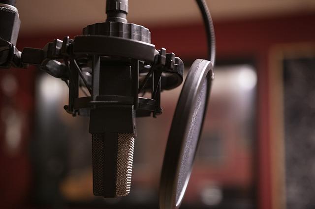 studiový mikrofon