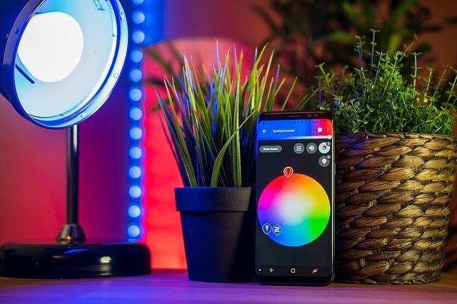 barevné žárovka