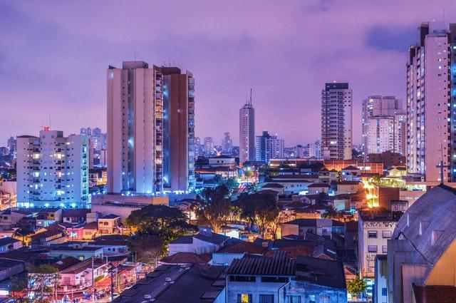 elektřina, město, světla